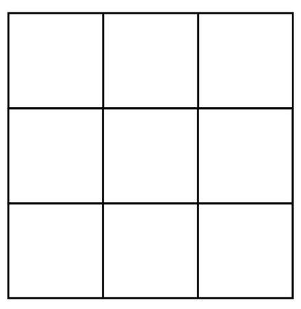 three by three square frame