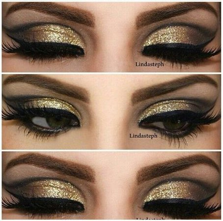 Black and Gold Eyeshadow