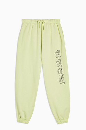ESCAPOLOGY Lime Green Joggers   Topshop