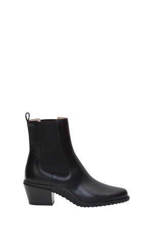Tods Western Booties With Gommino Sole