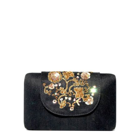 Black clutch bag by Simitri Designs at Wolf and Badger