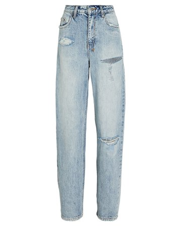 Ksubi Playback Distressed Straight-Leg Jeans | INTERMIX®