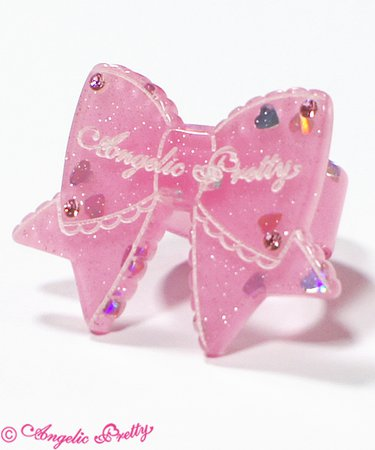 Tokimeki Ribbon Ring in Pink
