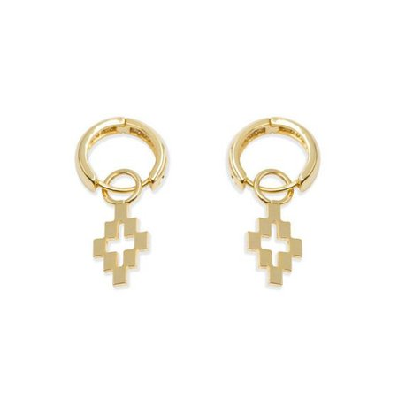 MARCELO BURLON CROSS PENDANT EARRINGS / 9383 : GOLD GOLD