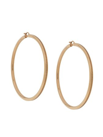 Versace Greca Large Hoop Earrings - Farfetch