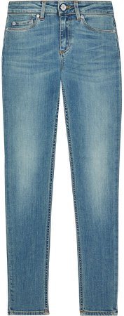 Skin 5 Cropped Faded Mid-rise Skinny Jeans