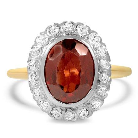 Edwardian Garnet Cocktail Ring | Joletta | Brilliant Earth