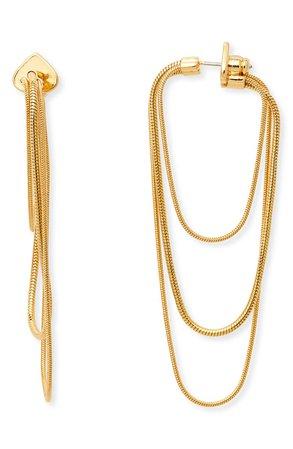 kate spade new york large snake chain hoop earrings | Nordstrom