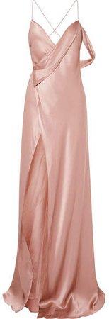 Michelle Mason - Draped Silk-charmeuse Gown - Blush