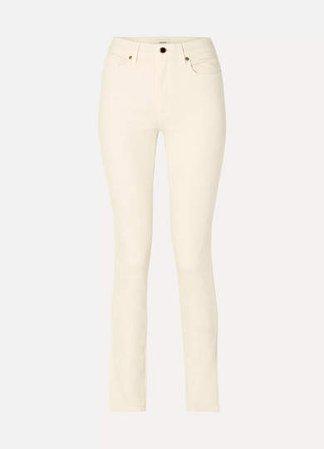 Vanessa High-rise Slim-leg Jeans - Ivory