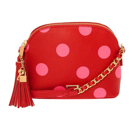 Polka Dot Crossbody Bag - Red | Claire's