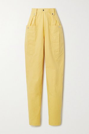 Yellow Yerris cotton tapered pants | Isabel Marant | NET-A-PORTER