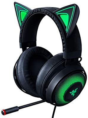 Amazon.com: Razer Kraken Kitty RGB USB Gaming Headset: THX 7.1 Spatial Surround Sound - Chroma RGB Lighting - Retractable Active Noise Cancelling Mic - Lightweight Aluminum Frame - For PC - Classic Black: Computers & Accessories