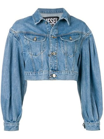 Diesel cropped denim jacket $188 - Buy Online SS19 - Quick Shipping, Price
