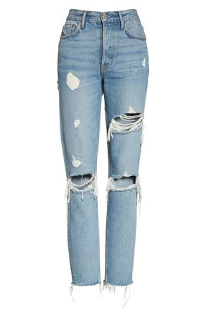 GRLFRND Karolina Ripped Rigid High Waist Skinny Jeans (A Little More Love) | Nordstrom