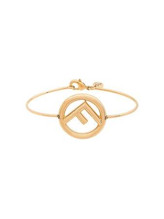 Fendi F-logo bangle bracelet - FARFETCH