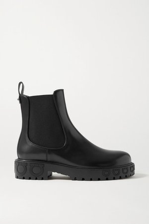 Varsi Leather Chelsea Boots - Black