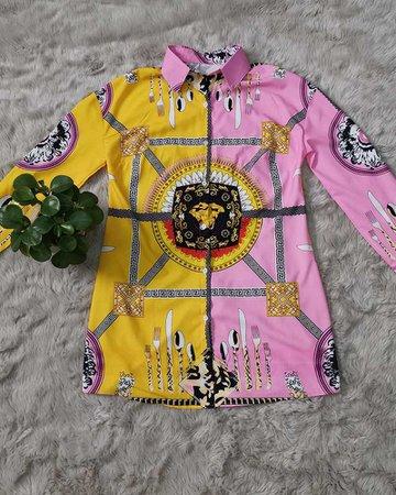Bel Vigour Medusa Shirt Dress