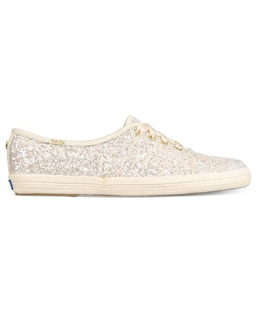 kate spade new york Glitter Lace-Up Sneakers