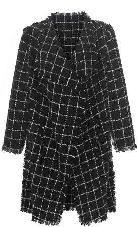 nevenka She Is Love Black White Check Coat