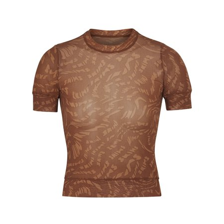 Summer Mesh T-Shirt - Latte Swirl | SKIMS