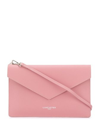 Shop pink Lancaster foldover clutch bag with Express Delivery - Farfetch