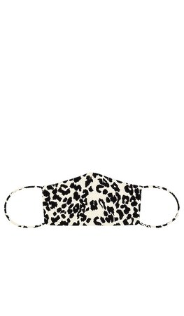 GRLFRND RTW Face Mask in Ivory Leopard | REVOLVE