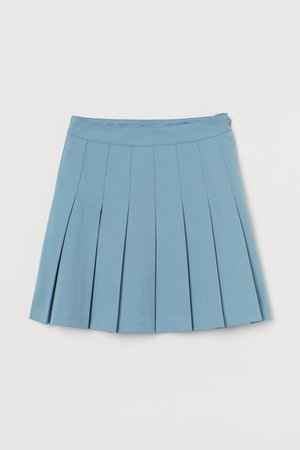 Pleated Skirt - Light blue - Ladies | H&M US