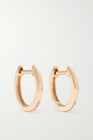 Rose gold Huggies 18-karat rose gold hoop earrings | Anita Ko | NET-A-PORTER