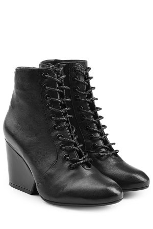 Lace-Up Leather Boots Gr. FR 36