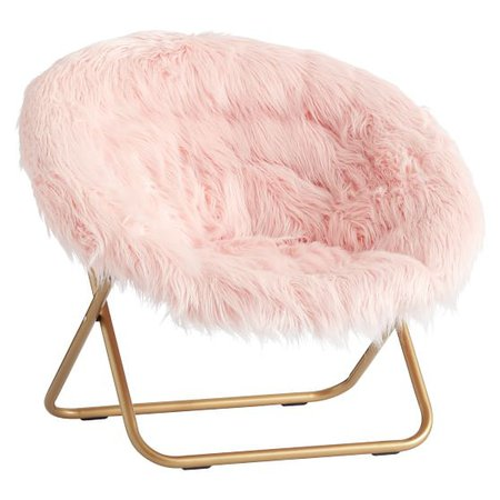 Himalayan Blush Faux-Fur Hang-A-Round Chair   PBteen