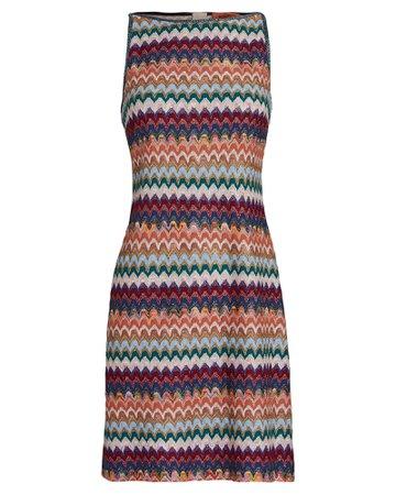Missoni Sleeveless Knit Mini Shift Dress | INTERMIX®