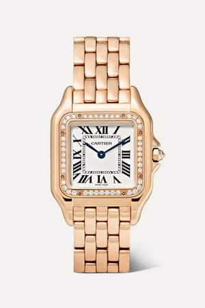 Cartier | Panthère de Cartier medium 27mm 18-karat pink gold and diamond watch | NET-A-PORTER.COM