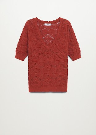 Oversize crochet sweater - Women   Mango USA