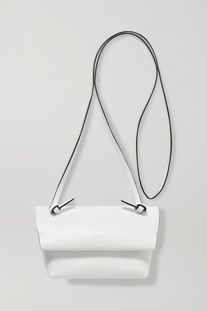 Leather Shoulder Bag - White