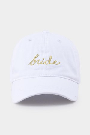 Bride Embroidered White Baseball Hat | francesca's