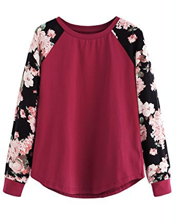 Long Sleeve Top Casual Floral Print T-Shirt