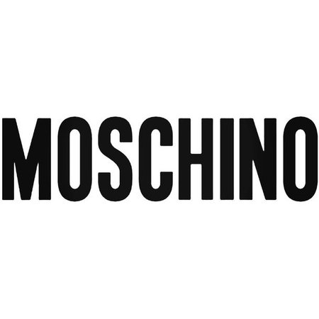 Moschino Logo Decal Sticker