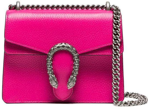 pink Dionysus small leather shoulder bag