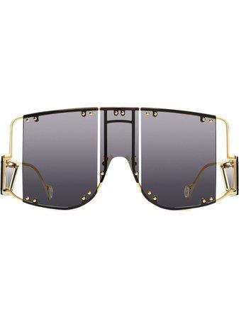 FENTY Blockt mask sunglasses black A0001N1CL800 - Farfetch