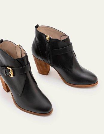 Carlisle Ankle Boots - Black | Boden US