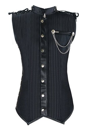 Steampunk vest black
