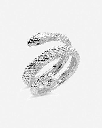 Sterling Forever Coiled Snake Ring