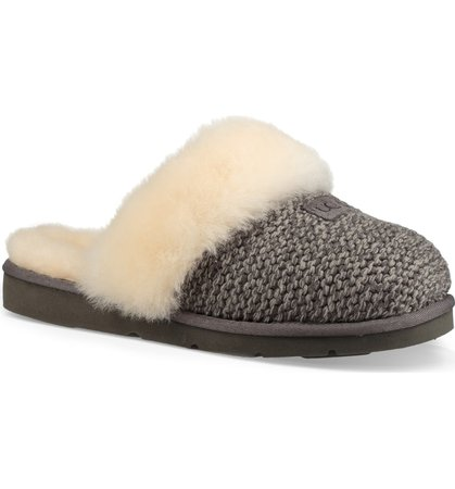 UGG® Cozy Knit Genuine Shearling Slipper (Women) | Nordstrom