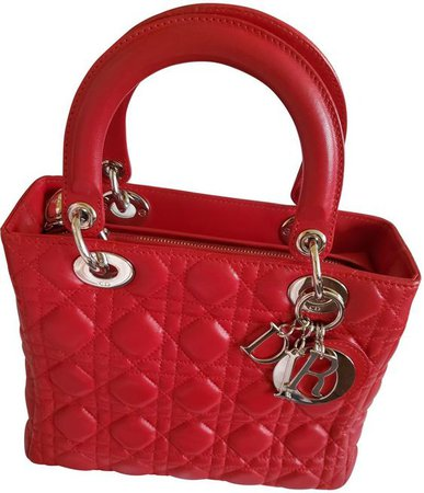 red lady dior bag