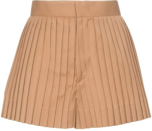 Blindness high waisted pleated wool shorts