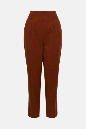 Utility High Waist Tailored Trouser | Karen Millen