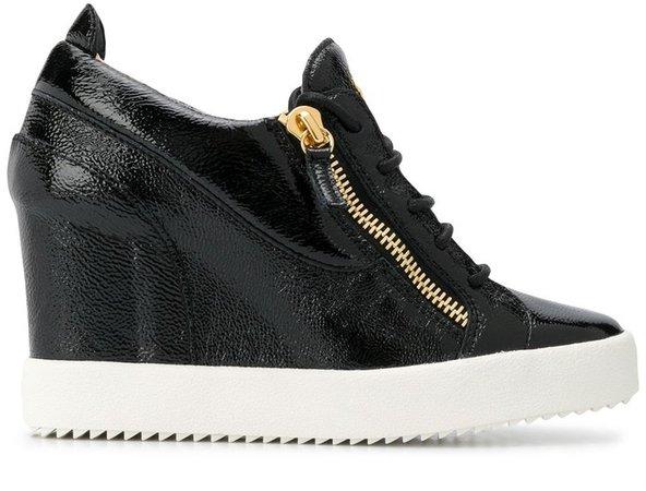 Round Toe Wedge Sneakers