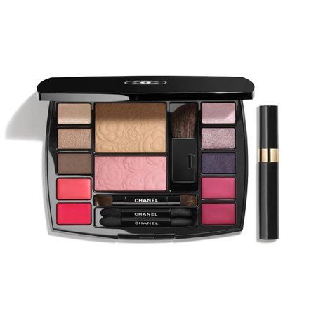 TRAVEL MAKEUP PALETTE Makeup Essentials With Travel Mascara<br>harmonie De Camélias Travel Sets   CHANEL
