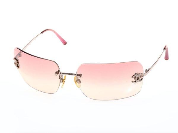 chanel pink rimless sunglasses - Google Search